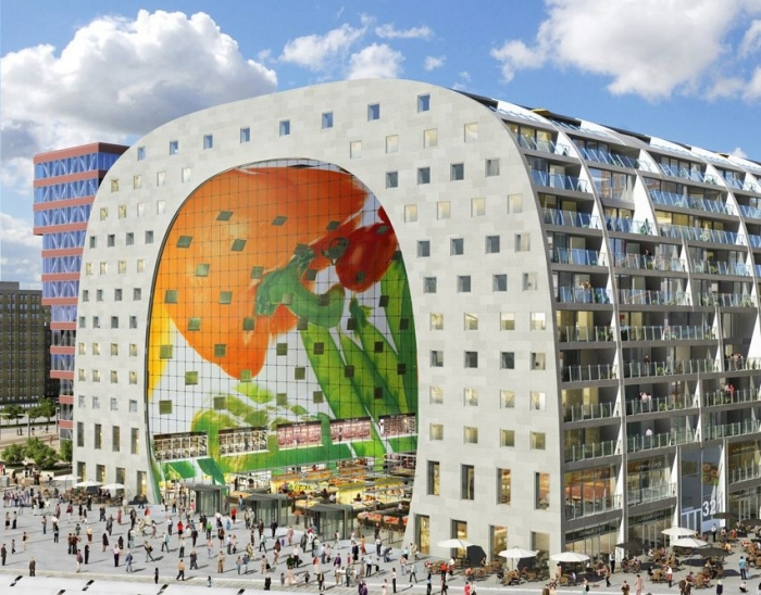 Mock-up kabelnetgevel Markthal