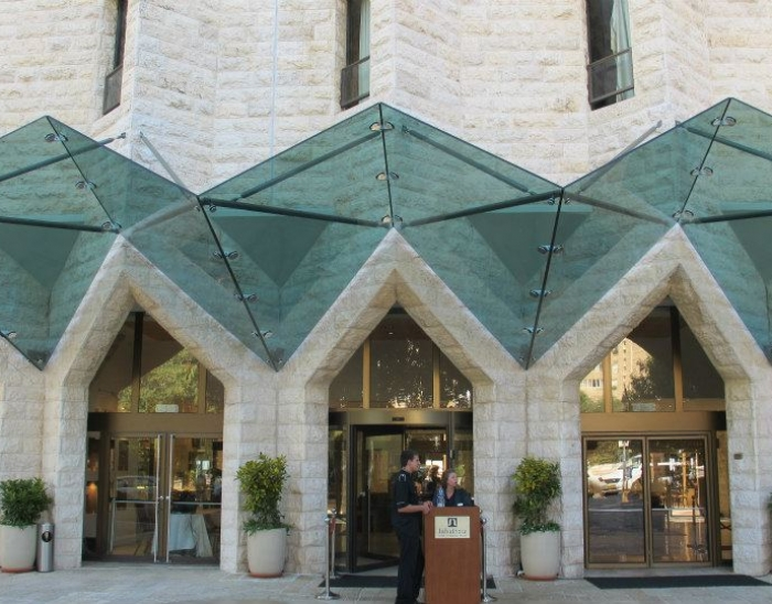 Glass Canopy Inbal Hotel (Jerusalem) completed